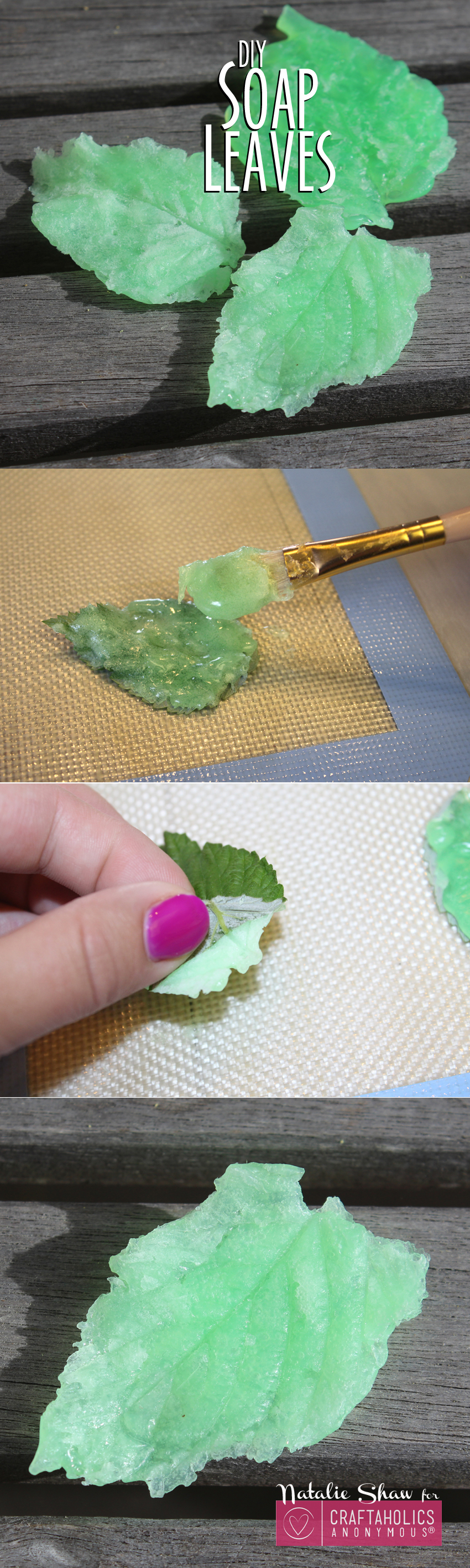 DIY Soap Leaves