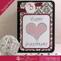Tangled Heart Card: Free SVG Cut File