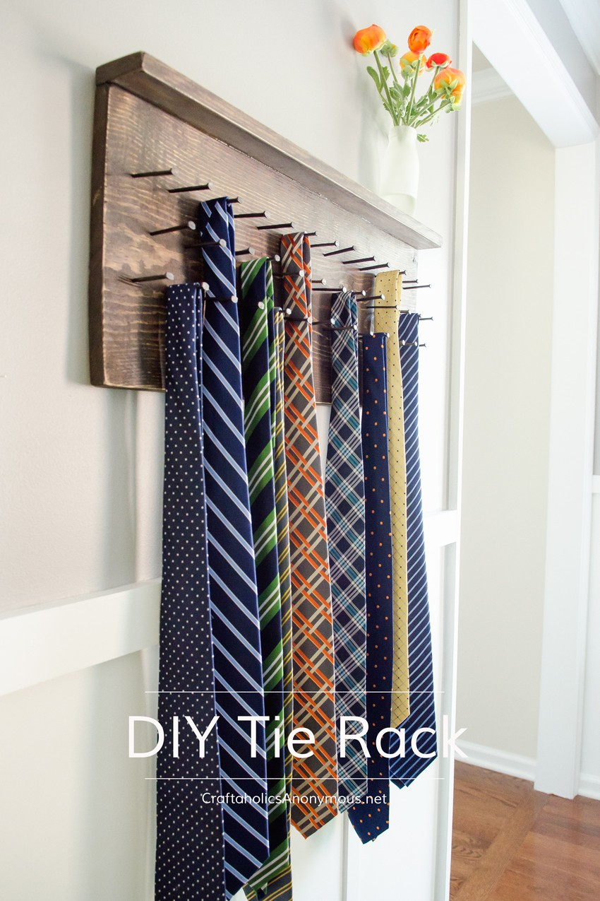 How to make DIY Tie Rack || Awesome Father's Day gift idea!