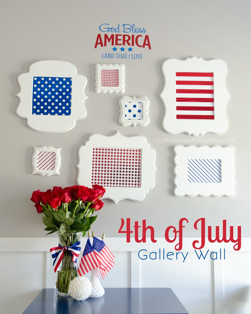 Patriotic Independence Day Gallery wall || This is so pretty!