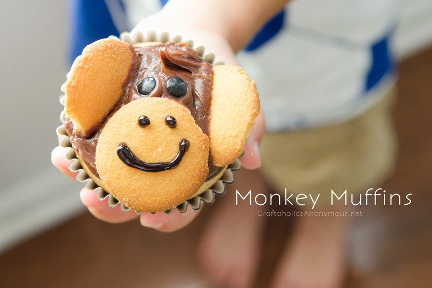 Banana Monkey Muffins || Cute snack idea for kids!