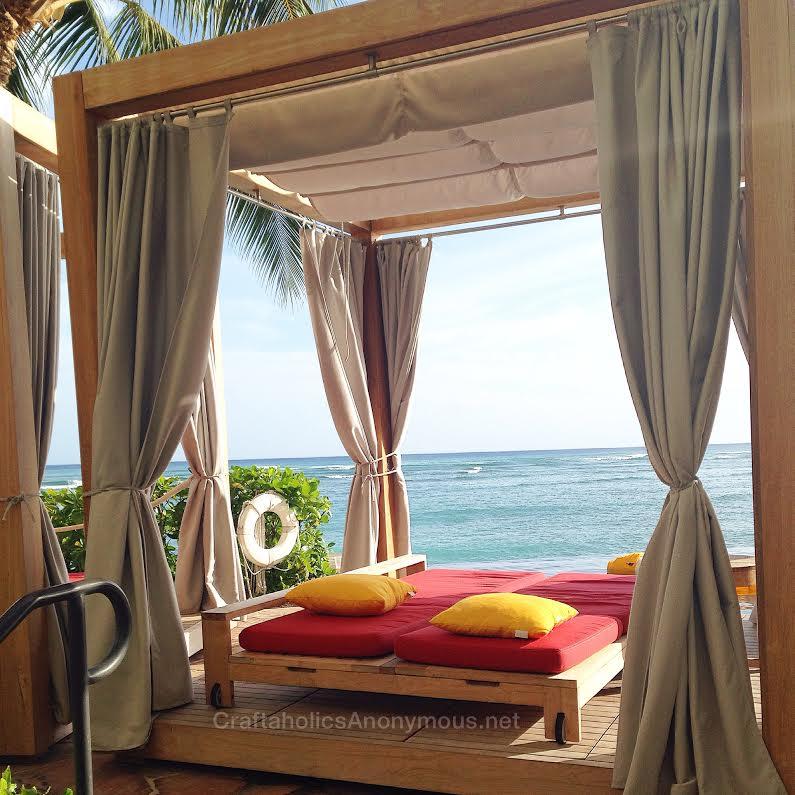 outdoor bed in hawaii