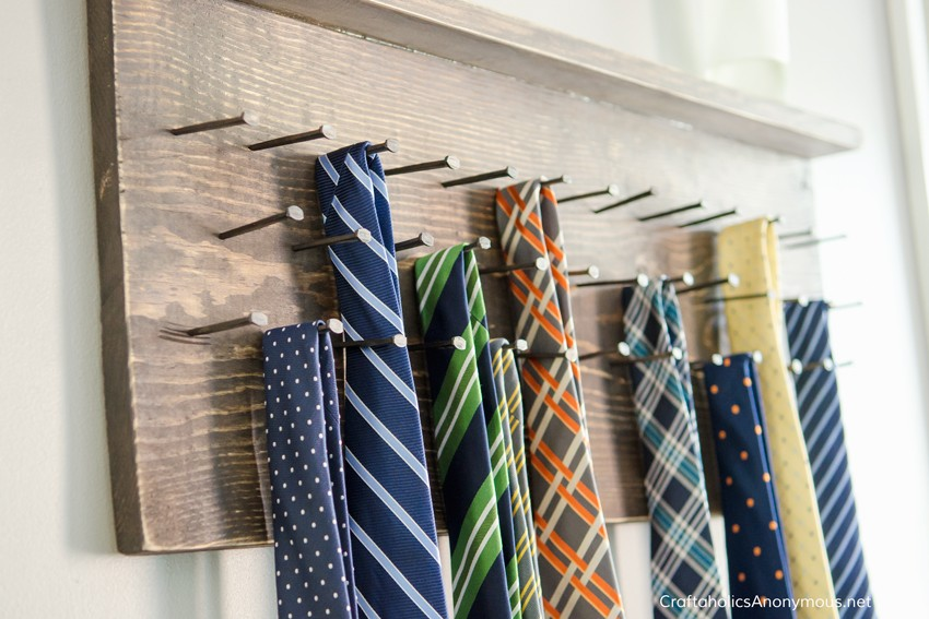 Tie Rack DIY || Make your own wood tie rack on the cheap