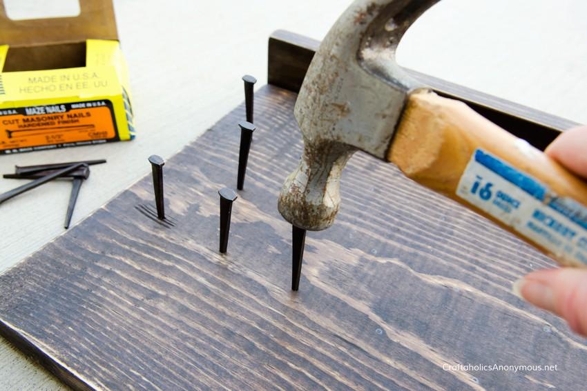 How to make wood tie rack tutorial