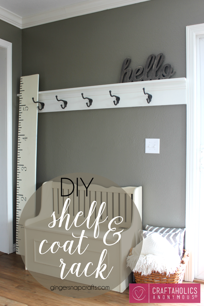 DIY Shelf & Coat Rack