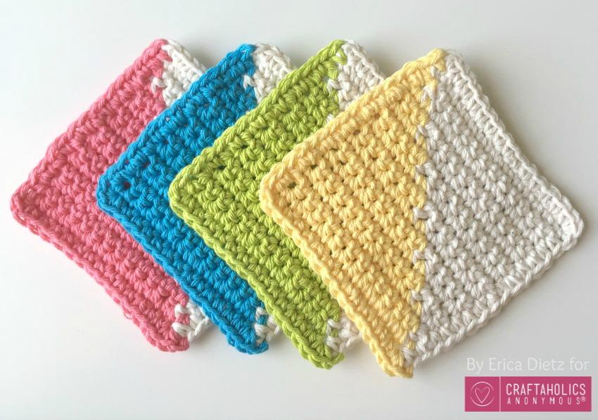 crocheted coasters geometric