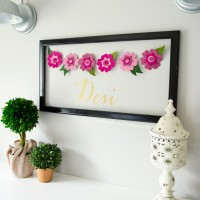 DIY Felt Flower Garland + Cut N Boss Giveaway