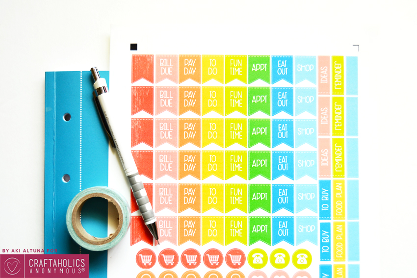 Planner Stickers printable and SVG cut file || great way to get organized in a cute way!