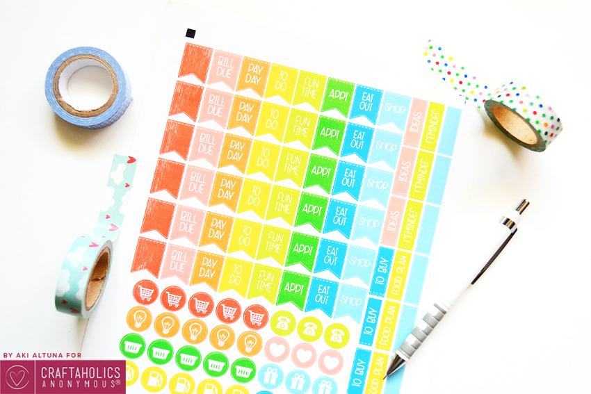 Weekly Planner Printables {Free for Your Happy Planner}
