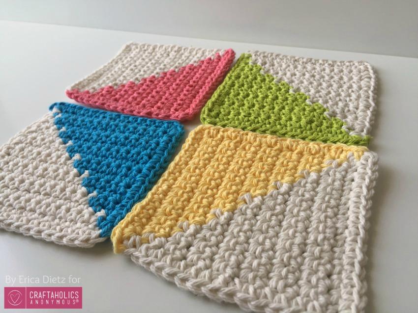 summer crochet coasters