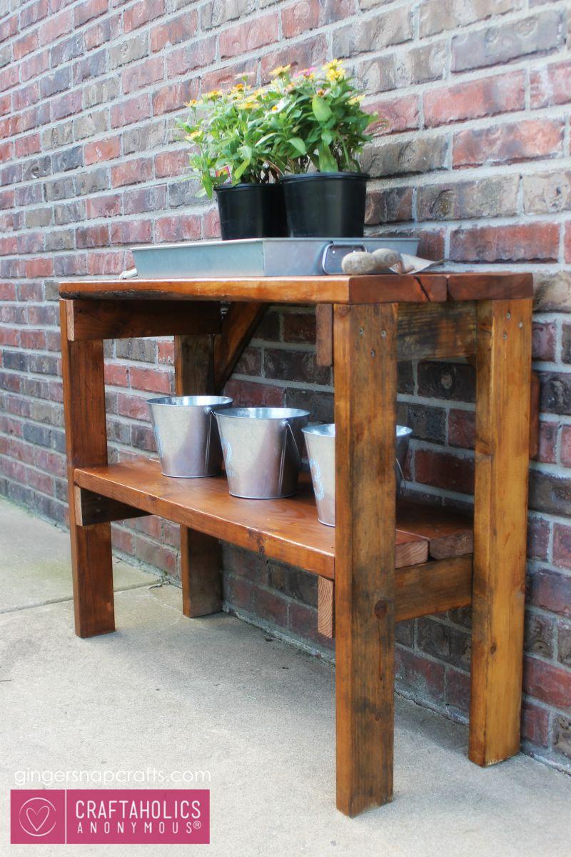 garden bench tutorial