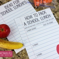School Lunch Printables