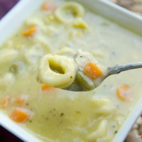 Cheesey Chicken Tortellini Soup Recipe