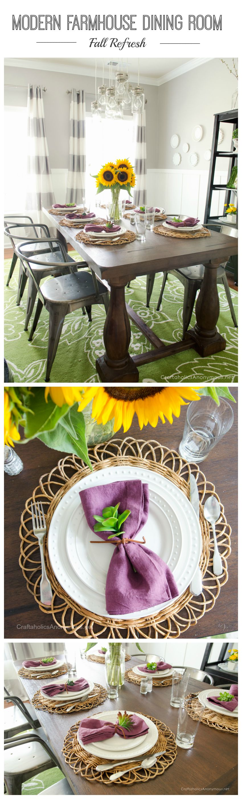 farmhouse dining room collage
