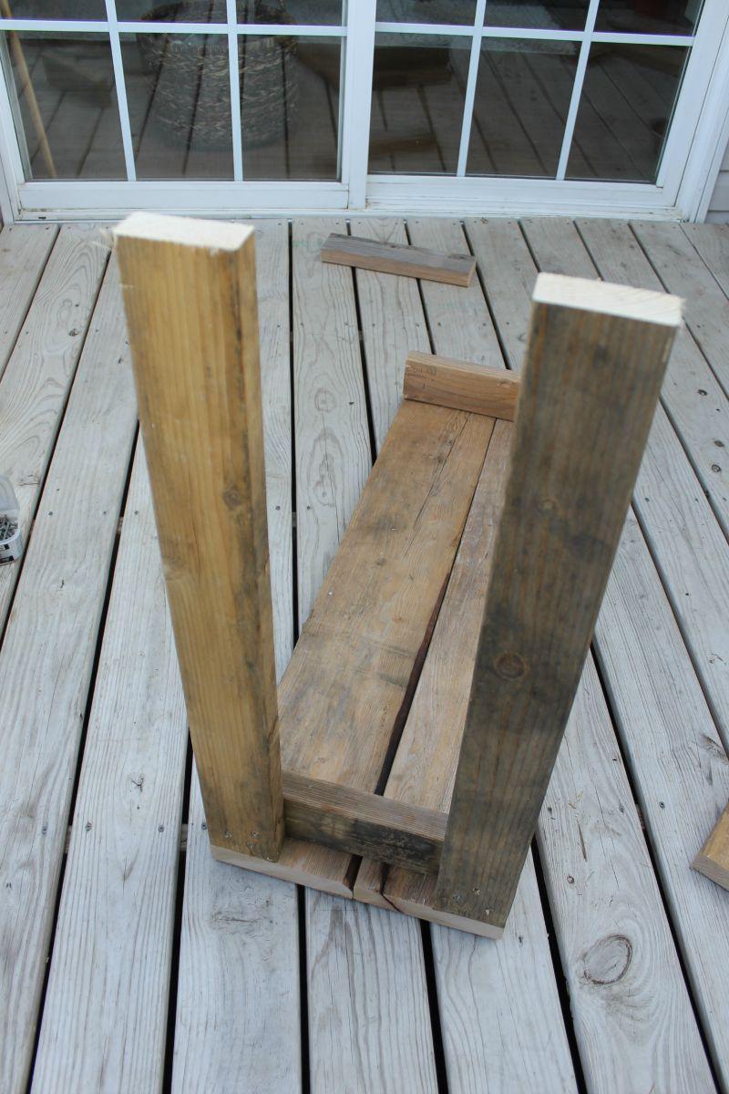 garden bench tutorial #DIY