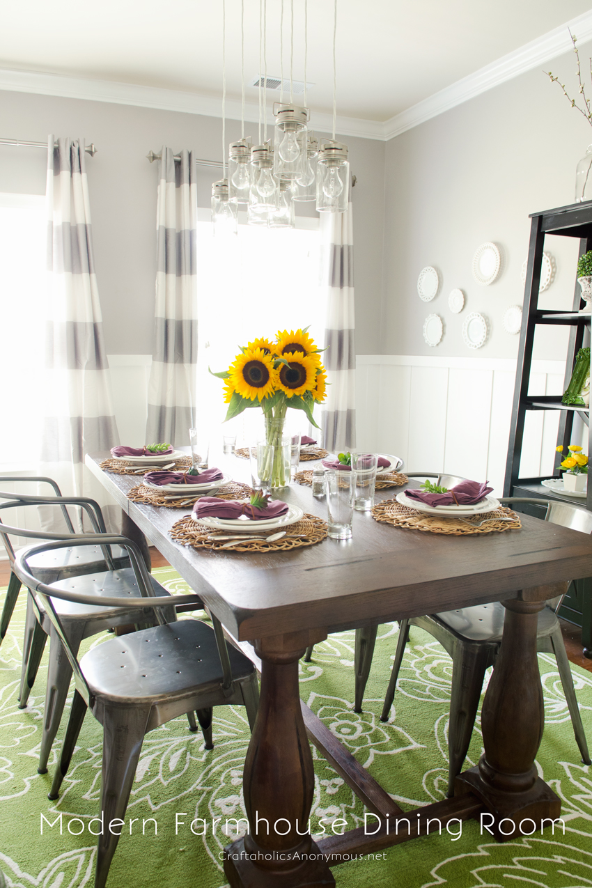 Modern Farmhouse Fall Dining Room refresh