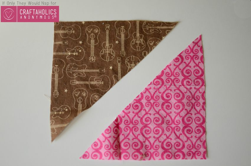 fabric triangles on www.craftaholicsanonymous.net