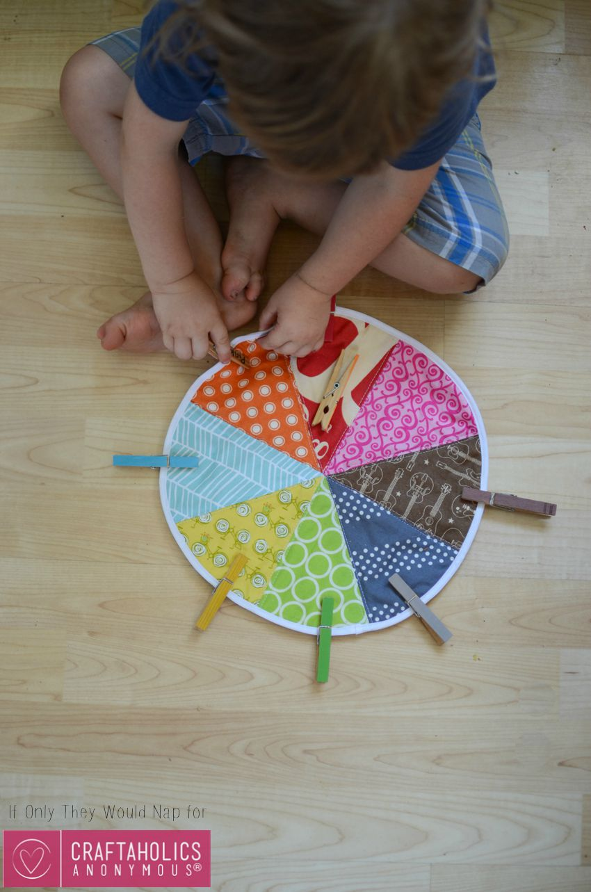 Sewing Tutorial for color matching Game for Preschoolers and Toddlers on www.craftaholicsanonymous.net