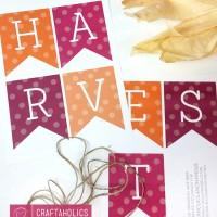 Harvest Banner Printable