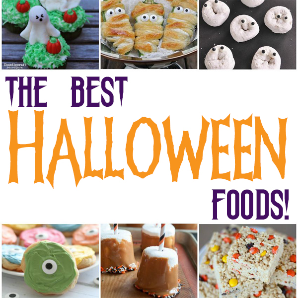 50+ Best Halloween Foods ideas :: includes snacks, meals, treats, and desserts on www.CraftaholicsAnonymous.net