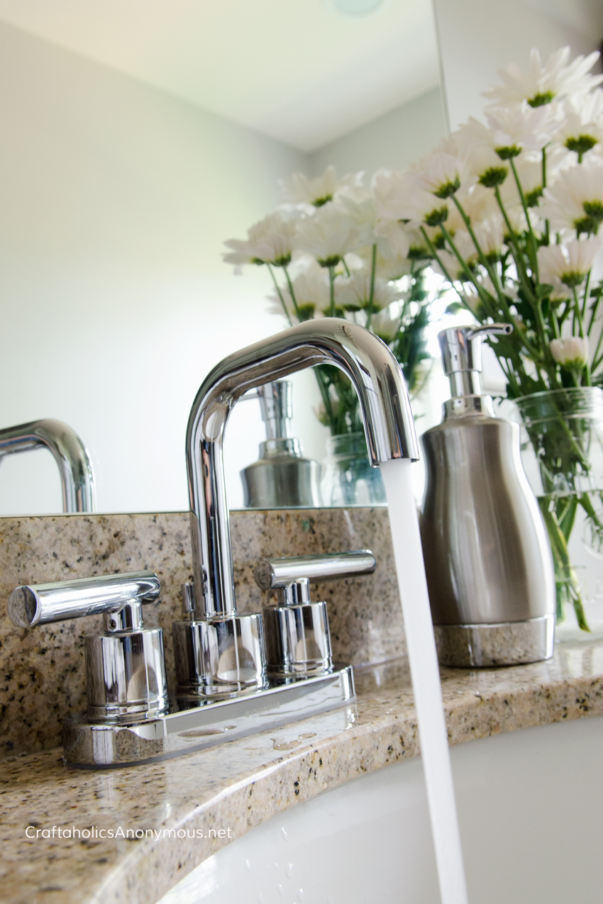 Gorgeous Bathroom Faucet. This one is super easy to install.
