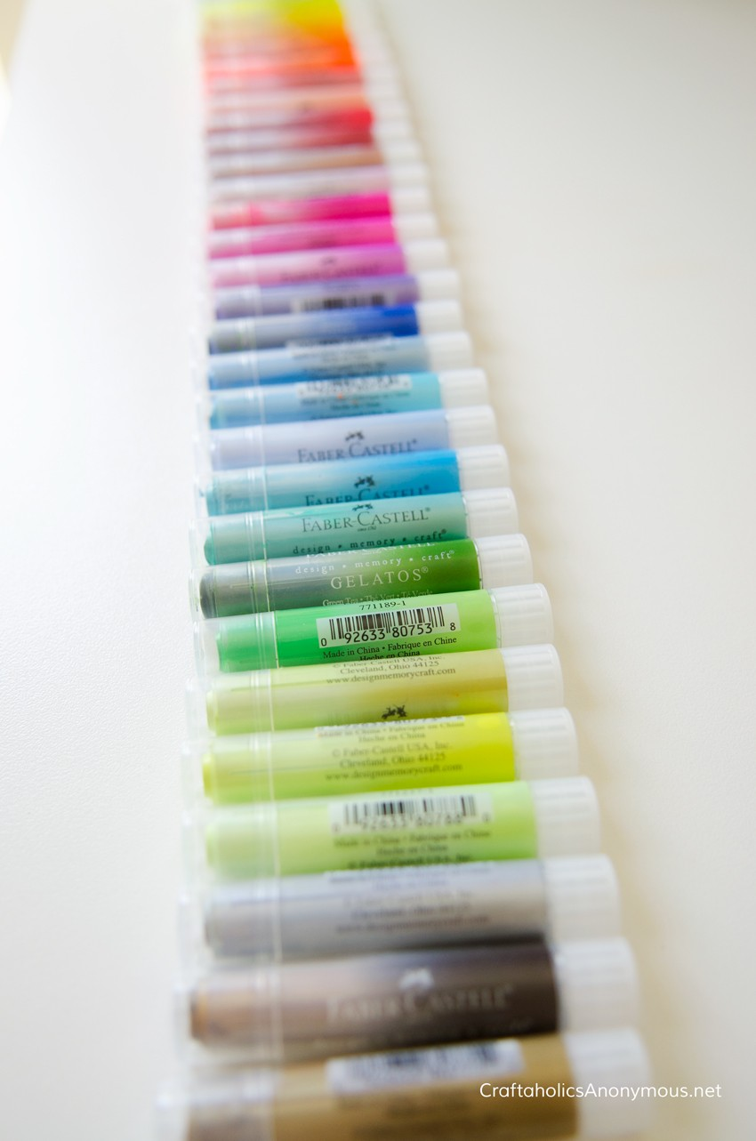 Gelatos® creamy pigment sticks that can be blended with or without water
