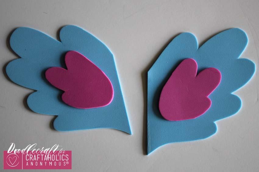 DIY kid Shoe Wings tutorial on www.Craftaholicsanonymous.net
