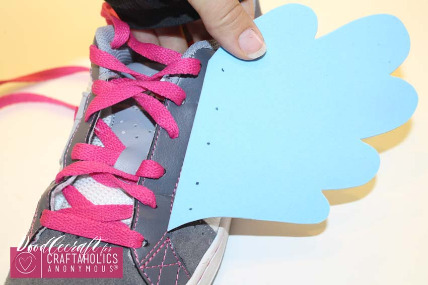 DIY Shoe Wings tutorial with free pattern on www.Craftaholicsanonymous.net