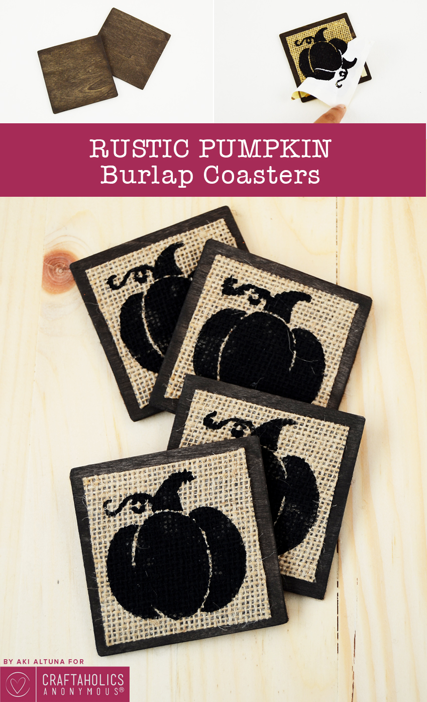 Easy Burlap Coasters for Fall! | Craftaholics Anonymous®
