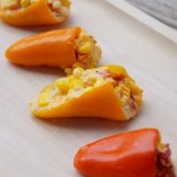 Pimento Cheese and Corn Stuffed Mini Sweet Peppers
