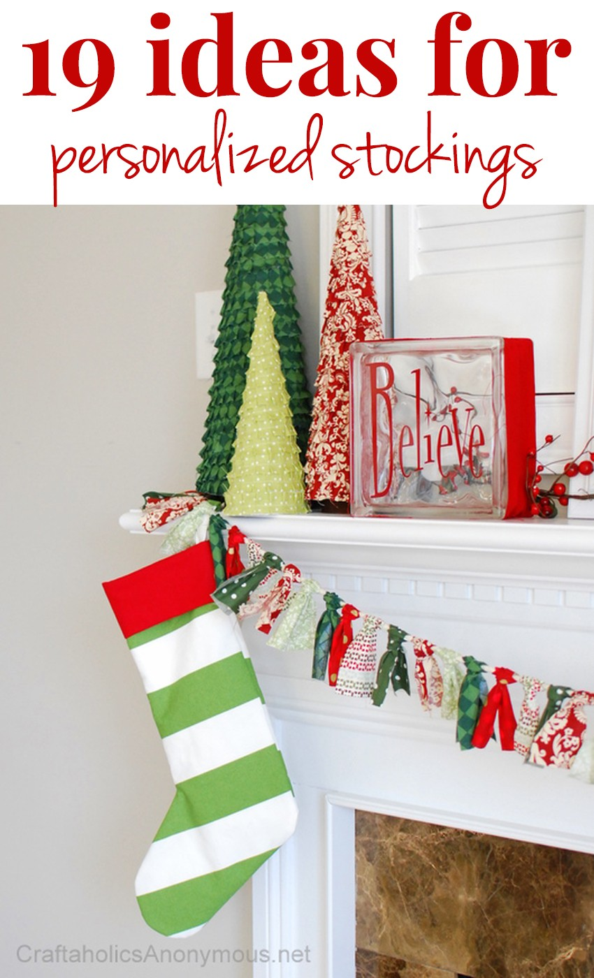 19 Ideas for Personalized Stockings
