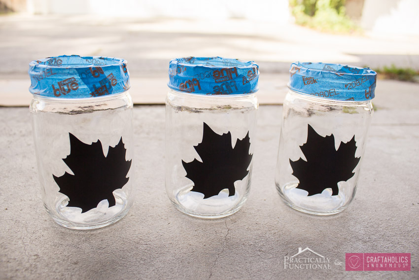 Fall Mason Jar tutorial