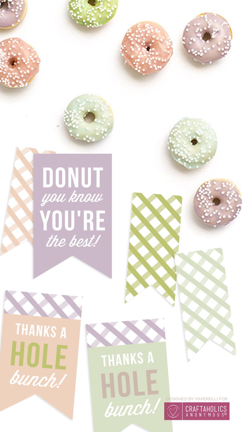 Free Printable Donut Tags @Craftaholics Anonymous
