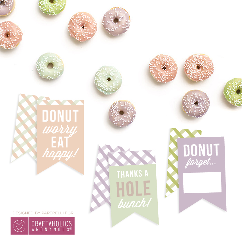 Free Printable Donut Tags on www.craftaholicsanonymous.net
