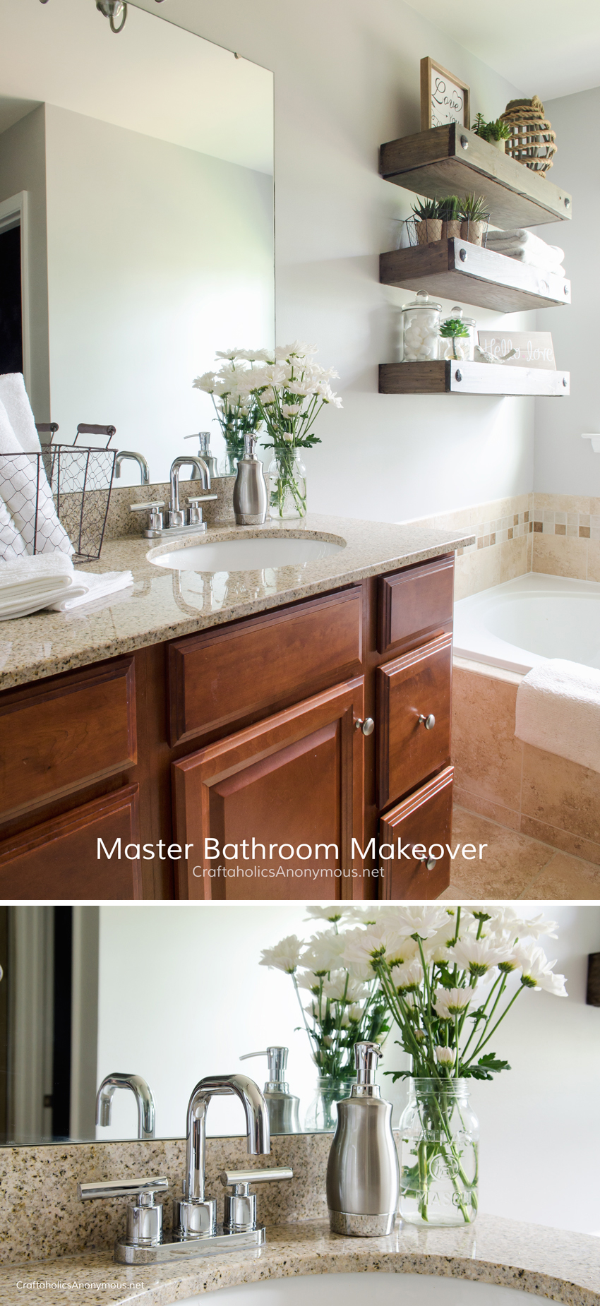 Master Bathroom Makeover DIY