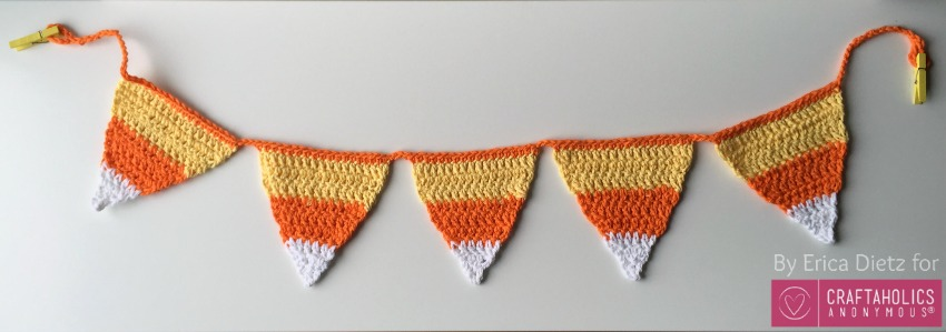 Candy Corn Crochet Banner