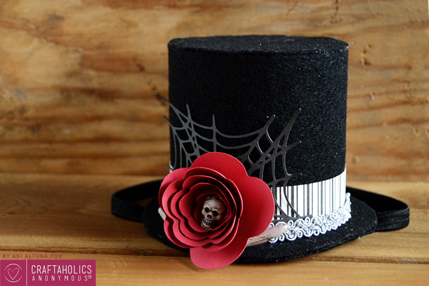 Handmade Halloween costume idea:: Halloween top hat tutorial with free template and SVG cut file