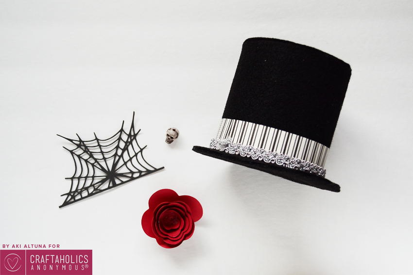 Halloween Top Hat Tutorial with Free Template and Free SVG cut file. Great addition to your costume!