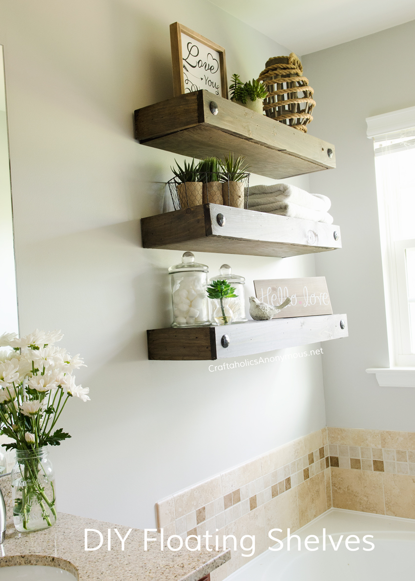 diy bathroom shelving ideas craftaholics anonymous 174 diy floating shelves 17353