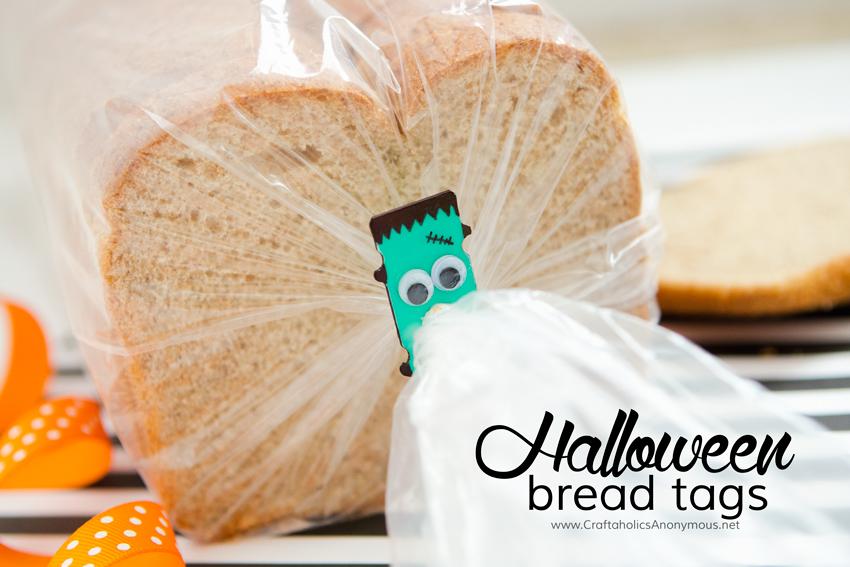 Halloween Bread tabs || Reuse plastic bread tabs + great Halloween craft idea for kids!