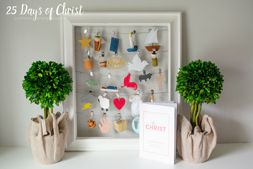25 Days of Christ craft idea to help keep Christ the center of your family's Christmas!