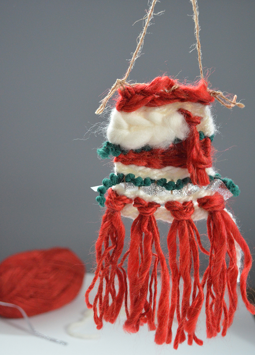 Woven DIY Christmas Ornament