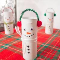 DIY Toilet Paper Roll Snowmen