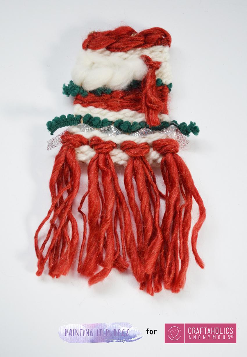 woven christmas ornament