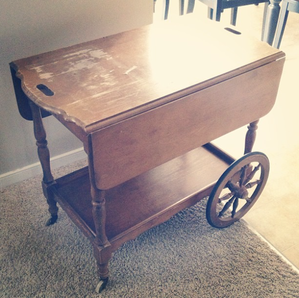 Thrifted bar cart