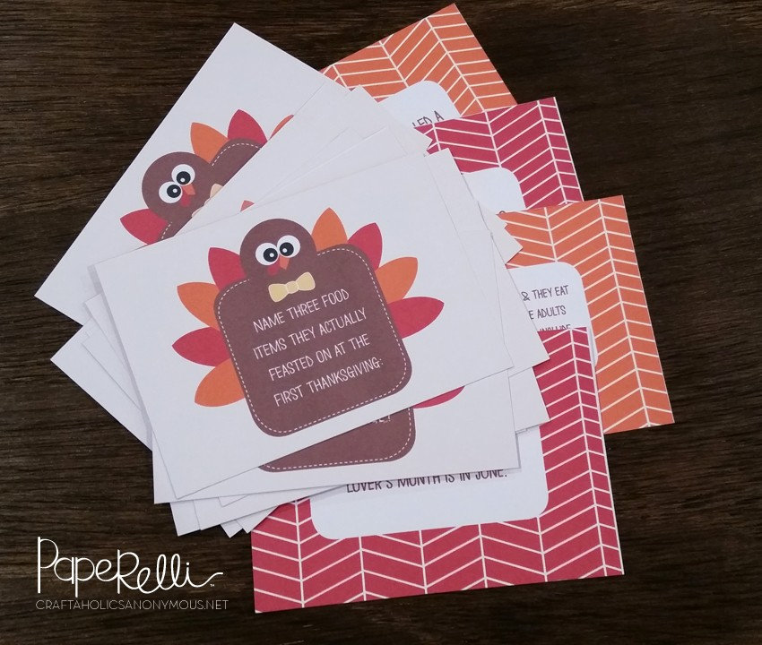 Turkey Trivia Cards by Paperelli