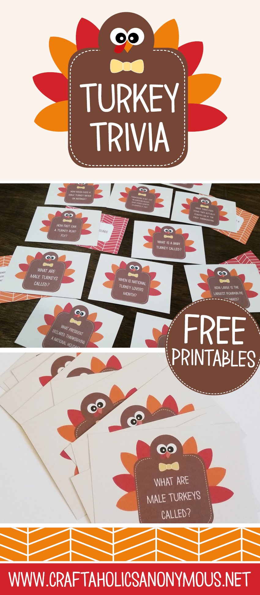 Thanksgiving Printable Trivia Cards