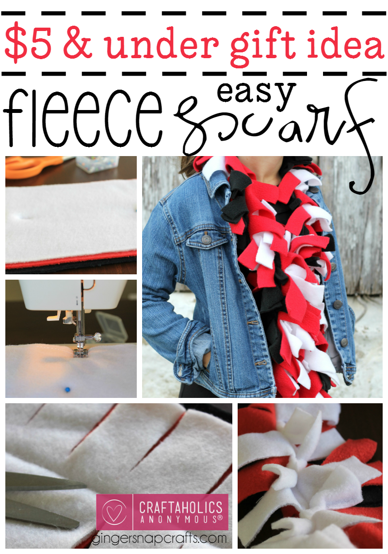 How to make a Fleece Scarf: Great Gift Idea for under $5!