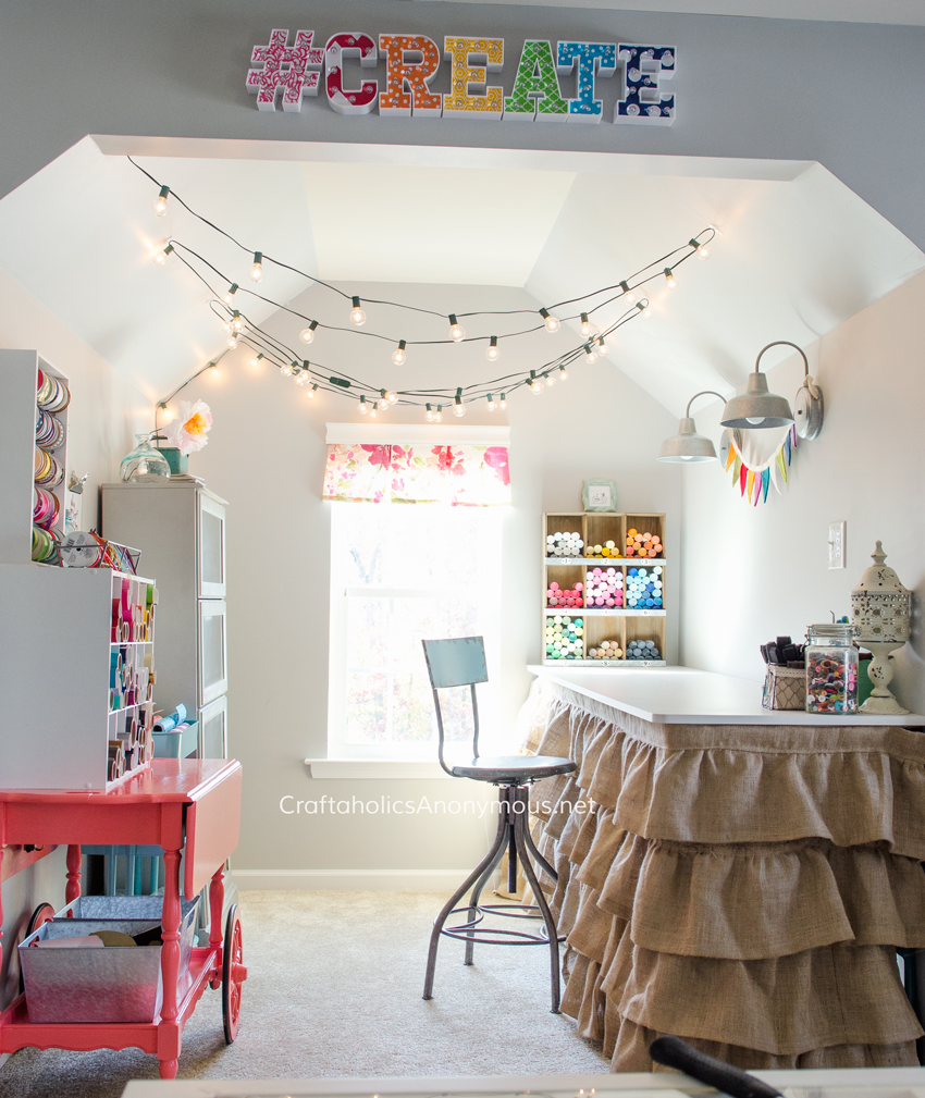 Amazing Craft Nook. I want to curl up and craft my little heart out in there! Take a tour of the Dream Craft Room www.craftaholicsanonymous.net