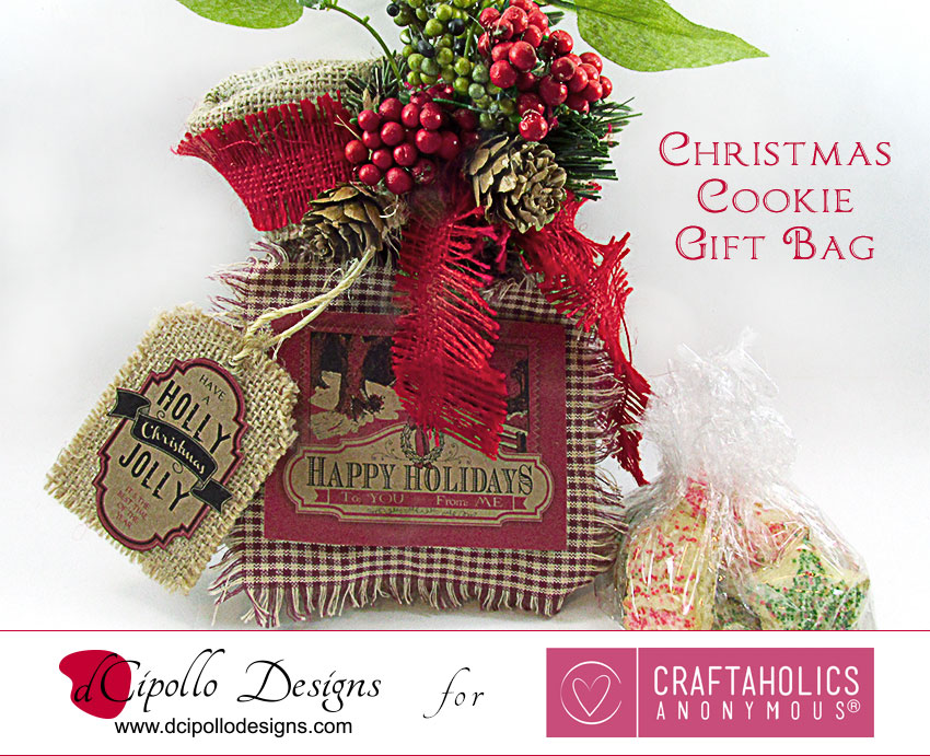 dCipollo Designs Christmas Cookie Gift Bag